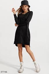 Замшевое платье черного цвета