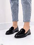 Жіночі лофери -туфлі чорні з декором еко шкіра пітон + замш, фото 7
