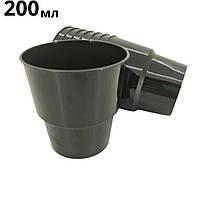 Одноразовый стакан стеклопластиковый черный, 200 мл, 25 шт/пач
