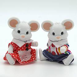 """Набор персонажей """"Счастливая семья"""" 2 флоксовые мышки."""