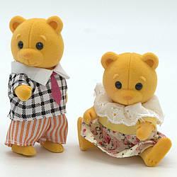 """Набор персонажей """"Счастливая семья"""" 2 флоксовые мишки."""
