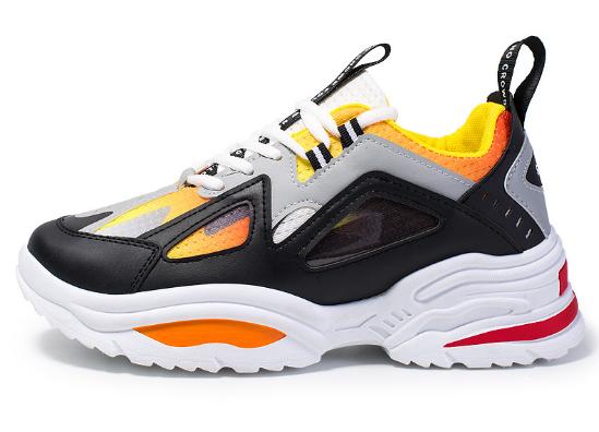Кросівки чорно-жовті ABO