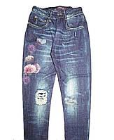 Трикотажные леггинсы для девочек, рост 98-128 см