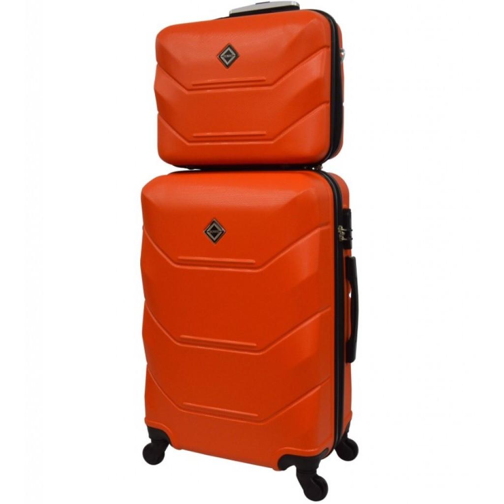 Комплект валіза + кейс Bonro 2019 (невеликий) помаранчевий