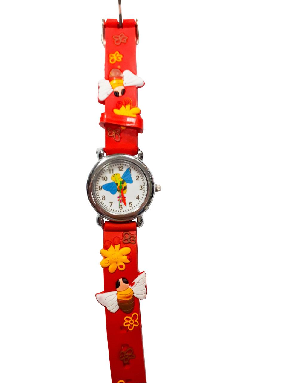 Часы детские Пчела Красный