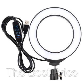 Кільцева лампа 16 см (USB, 5Вт, 3200-5500К)