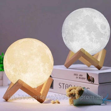 Нічник місяць, який світиться Moon Lamp 13 см