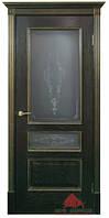 Двери межкомнатные Вена Черная патина серебро