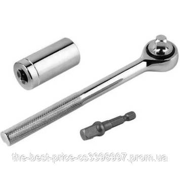 Тріскачка з універсальної головкою Instantly Grips any Shape 7-19 мм