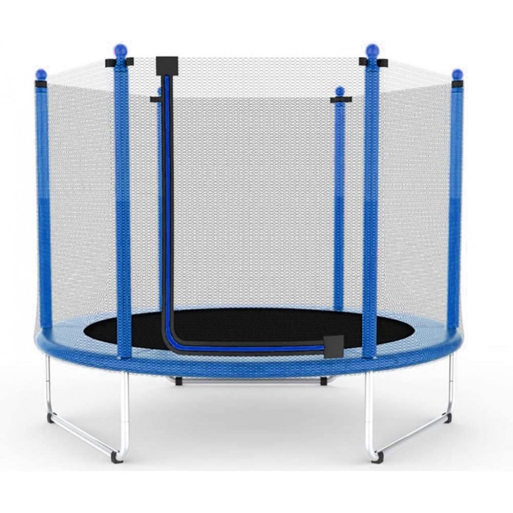 Батут Atleto 152 см з сіткою синій (5 ft)