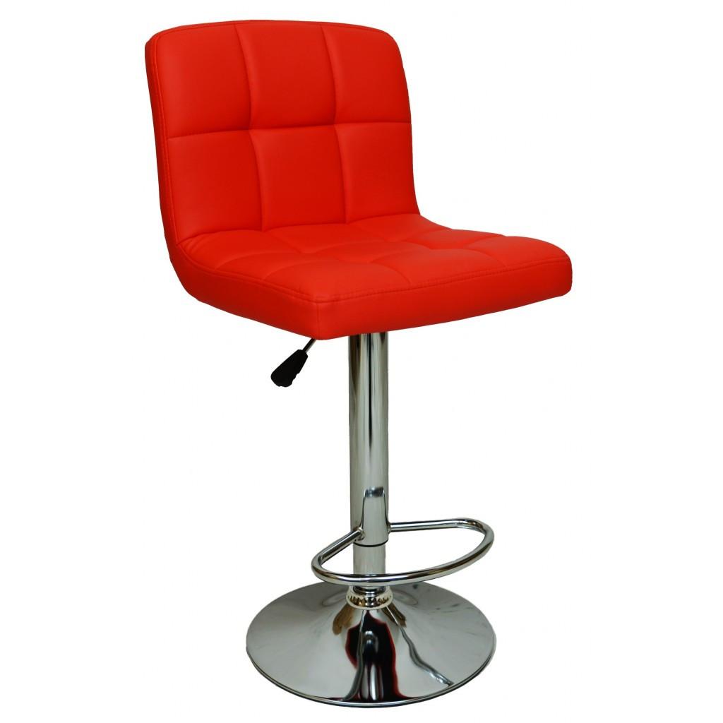 Барний стілець зі спинкою Bonro B-628 червоний