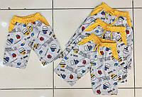 Детские трикотажные шорты для мальчика Among Us 1-4 года, светло-серого цвета