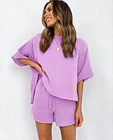 Женский летний костюм шорты+футболка