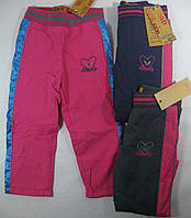 Балоневые брюки на флисе для девочек