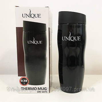 Термокружка UNIQUE UN-1071 0.38 л. Колір чорний