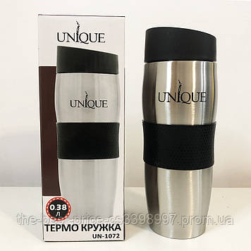 Термокружка UNIQUE UN-1072 0.38 л. Колір чорний