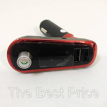 FM Трансмітер в машину SmartUS G11 BT ФМ модулятор автомобільний. Колір червоний