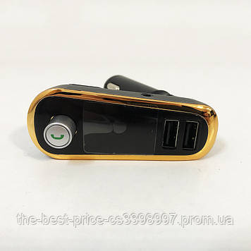 FM Трансмітер в машину SmartUS G11 BT ФМ модулятор автомобільний. Колір золото