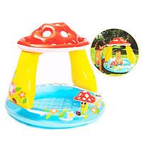 """Дитячий надувний басейн з навісом """"Грибочок"""""""