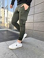 Мужские штаны Карго с манжетом хаки Размеры: S-XXL