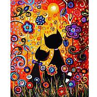 Картина по номерам Красочные котики, 40х50 см(VA-2293)