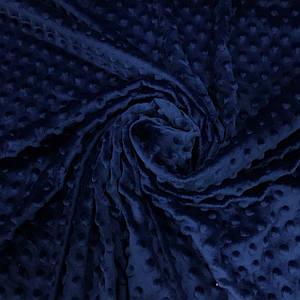 Плюшевая ткань Minky темно-синий (плот. 380 г/м.кв)