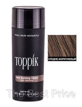 Кератиновий загусник для волосся Toppik (для маскування залисин) 27,5 м Шатен (Medium Brown)