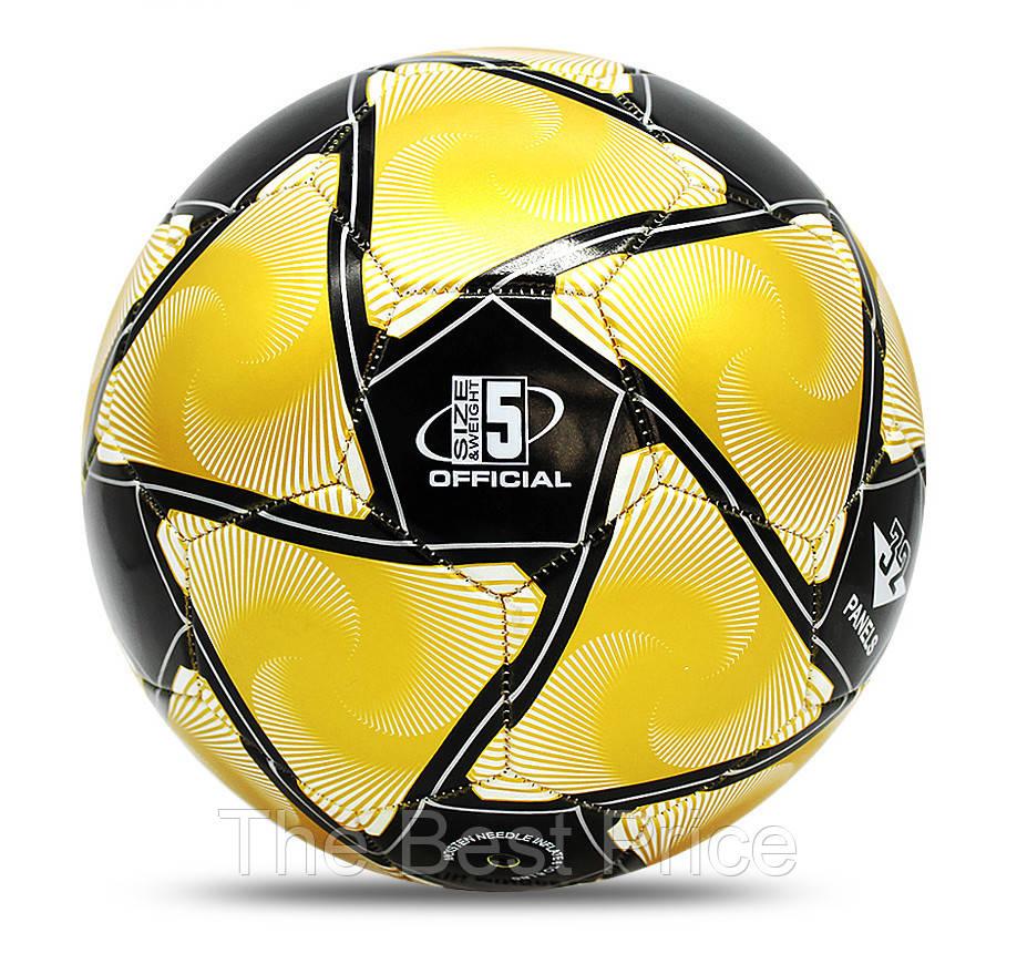 Футбольный мяч Jymingde 5 размер (Black Yellow)