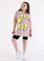 Підлітковий костюм для дівчинки з шортиками Not Do Fret розмір 8-16 років, колір уточнюйте при замовленні, фото 1