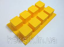 Форма силикон 8 кубиков