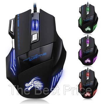 Проводная игровая мышка CZF G509-7 с подсветкой