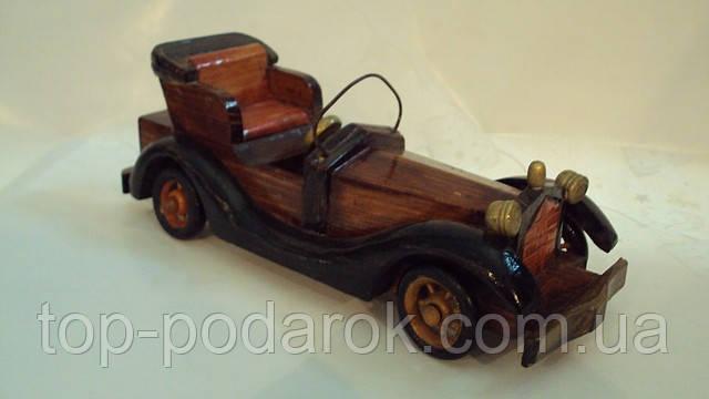 Модель деревянного ретро-автомобиля, фото 1