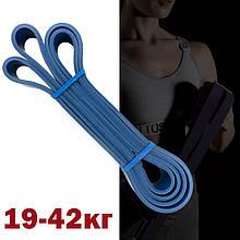 Силовая лента эспандер для занятия кроссфитом и подтягиваний на турнике 19-42 кг