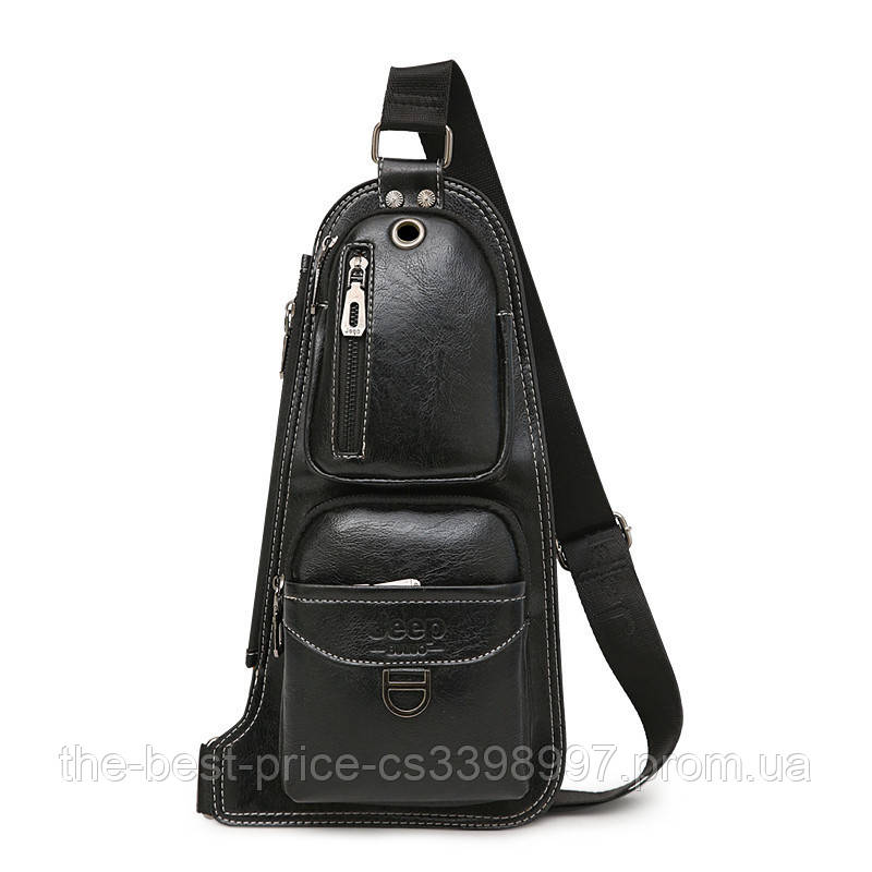 Сумка-рюкзак на ремне через плечо Jeep 1941 Black