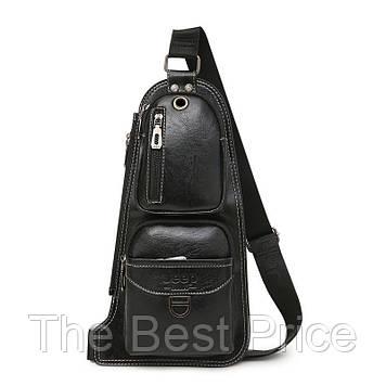 Сумка-рюкзак на ремені через плече Jeep 1941 Black (7138)