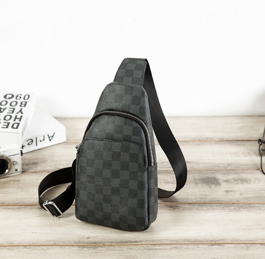 Стильная мужская сумка на грудь экокожа, сумка-слинг для мужчин в стиле Луи Витон месенджер кросс-боди