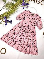 Святкова дитяча сукня із штапелю.