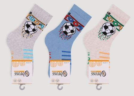 Дитячі шкарпетки з бавовни з малюнком Bross м'яч