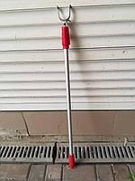 Телескопічна палиця для зняття речей металева червона