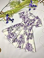 Святкова дитяча сукня із ткані костюмка.