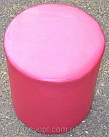 Пуфик циліндр рожевий