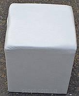 Пуфик квадрат білий
