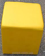 Пуфик жовтий квадрат