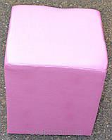 Пуфик квадрат рожевий