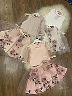 Святкова дитяча сукня-костюм із ткані костюмка.