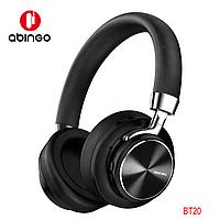 Наушники Bluetooth V5.0. Abingo BT20, беспроводные большие накладные наушники, гарнитура, черные