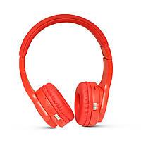 Наушники Bluetooth KARLER 004, беспроводные большие накладные наушники, стерео гарнитура, красные