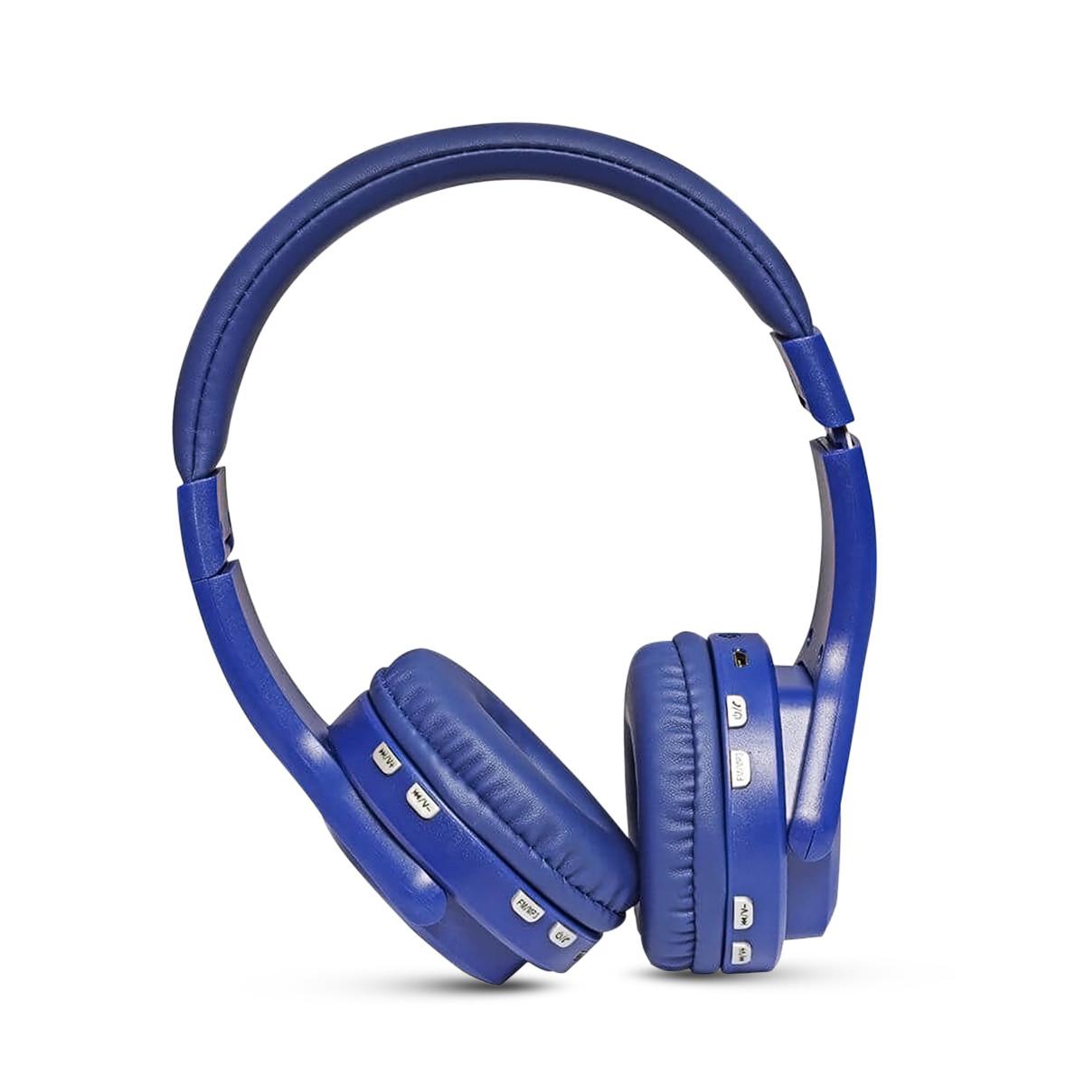 Наушники Bluetooth KARLER 004, беспроводные большие накладные наушники, стерео гарнитура, синий