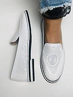 Evromoda. Жіночі літні туфлі-балетки з перфорацією білого кольору. Туреччина. Розмір 36.38.39.40.Vellena, фото 6