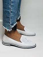 Evromoda. Жіночі літні туфлі-балетки з перфорацією білого кольору. Туреччина. Розмір 36.38.39.40.Vellena, фото 2